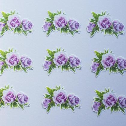 Peony Drawing Vinyl Sticker, vinyl ..