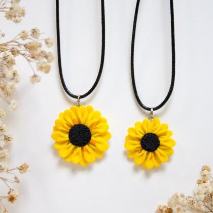 Handmade Sunflower Pendant, 2 Sizes..