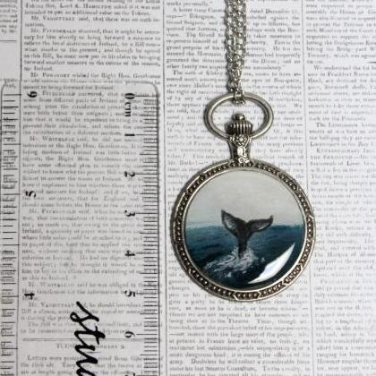 Hand painted whale pendant or minia..