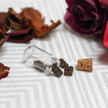 Miniature Chocolate Bottle Charm, H..